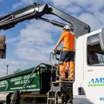 Avon Material Supplies grab lorry operating in Bournemouth