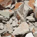 Rubble and brickwork for disposal