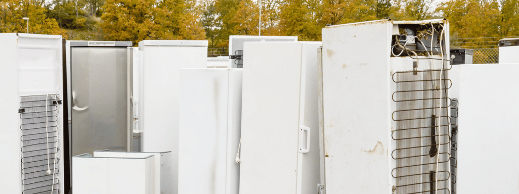 Waste fridges and freezers for disposal