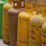 Waste gas bottles for recycling