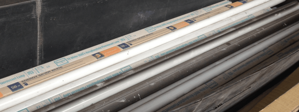 fluorescent tube disposal at Canford Recycling Centre
