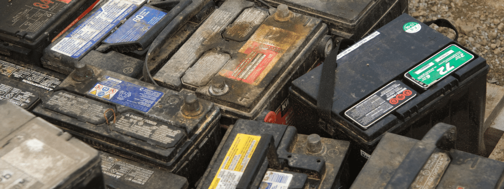 old Car batteries for disposal