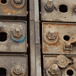 Waste batteries for disposal