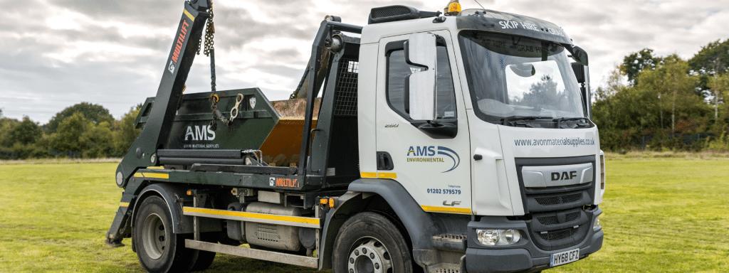 Avon Material Supplies skip hire truck